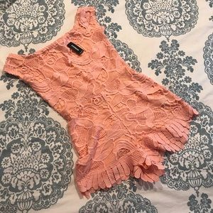 9c3fdafab77a Express Pants - Express • NWT Off the Shoulder Lace Romper